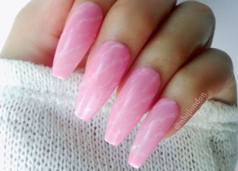 Rose,Quartz,Press On Nails, Stiletto Nails, Pink Stiletto Nails, Fake Nails, Press on Nails UK, Almond Nails