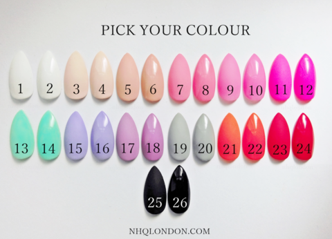 COLOUR,COLLECTION,stiletto press on nails, press on nails uk, Stick on nails