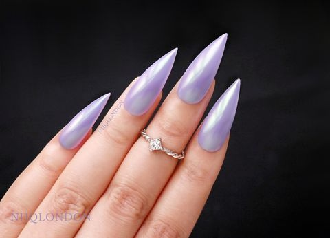 PEGASUS,unicorn nails, purple chrome nails, unicorn chrome press on nails