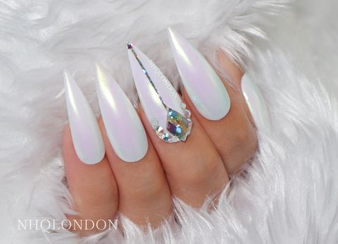 LAVISH,bling press on nails, swarovski nails, bling stiletto nails