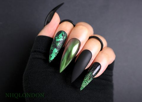 WICKED,luxury press on nails, custom press on nails