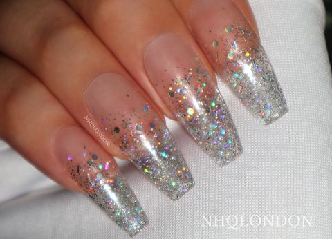 HOLO,GLITTER,FADE,stiletto nails uk, press on nails uk, press on nails, fake nails, false nails, acrylic nails, matte nails, black matte nails