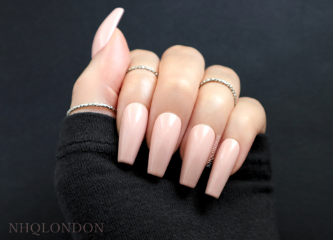 CLASSIC,VIBE,press on coffin nails, press on nails uk, nude coffin nails