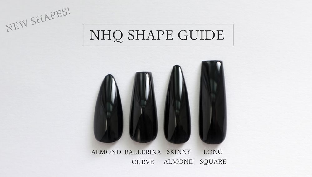 Matte Black Coffin Nails - product images  of