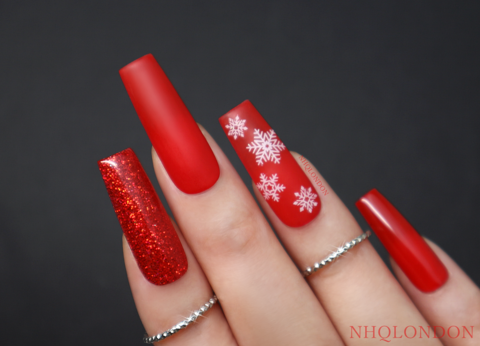 HOLIDAY,VIBES,holiday nails, press on nails, luxury press on nails, Christmas Nails