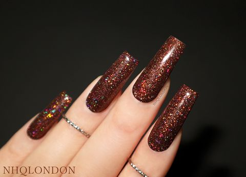 VOGUE,luxury press on nails, press on nails uk, brown nails, chocolate nails