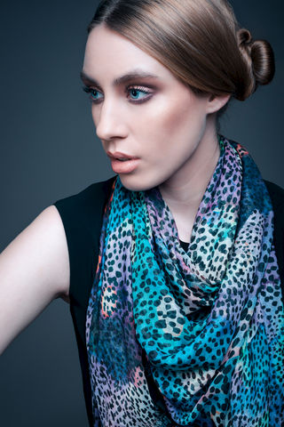 Rainbow,Leopard,Scarf,digital print scarf scarves painterly silk modal rainbow animal print leopard