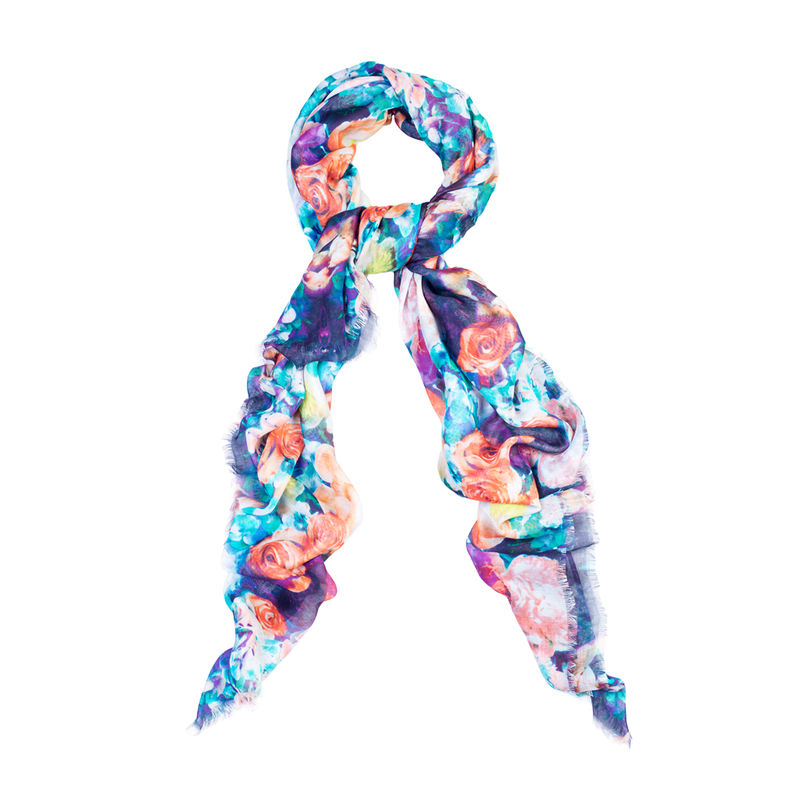 Floral Coral Scarf - product images  of