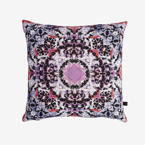 Bali,Cushion,cushion, digital print, printed cushion, amy sia cushion, amy sia, cushion, watercolour, watercolour cushion, abstract cushion, watercolour abstract cushion, painterly cushion, made in the uk, made in britain, pink cushio