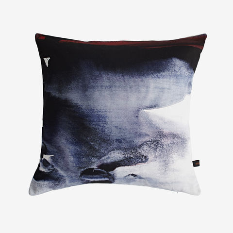 Nightfall,Cushion,cushion, digital print, printed cushion, amy sia cushion, amy sia, cushion, watercolour, watercolour cushion, abstract cushion, watercolour abstract cushion, painterly cushion, made in the uk, made in britain, orange cush
