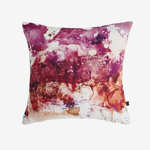 Ruby,Cushion,digital print, printed cushion, amy sia cushion, amy sia, cushion, watercolour, watercolour cushion, abstract cushion, watercolour abstract cushion, painterly cushion