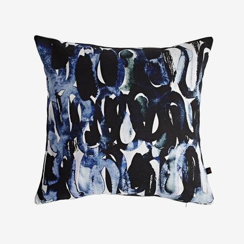 Nocturne,Cushion,digital print, printed cushion, amy sia cushion, amy sia, cushion, watercolour, watercolour cushion, abstract cushion, watercolour abstract cushion, painterly cushion