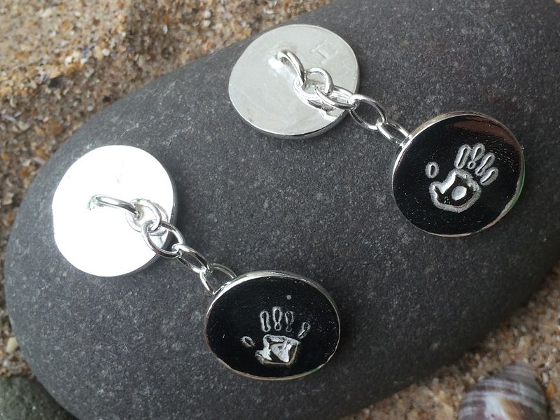 Silver Handprint cufflinks - product images  of