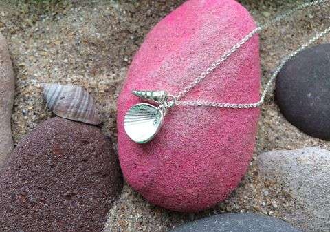 Shell,collection,necklace,silver jewellery, shell jewellery, necklace