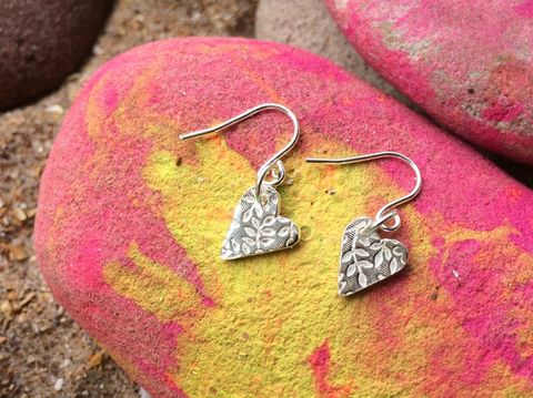 Heart,drop,earrings,Silver earrings, silver jewellery, heart jewellery, drop earrings