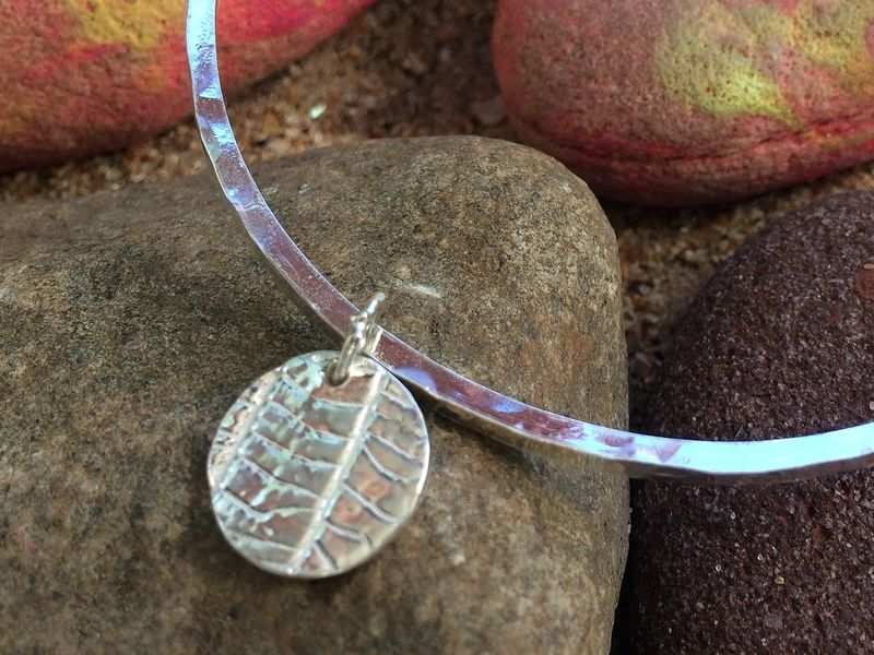 Silver leaf bangle - product images  of