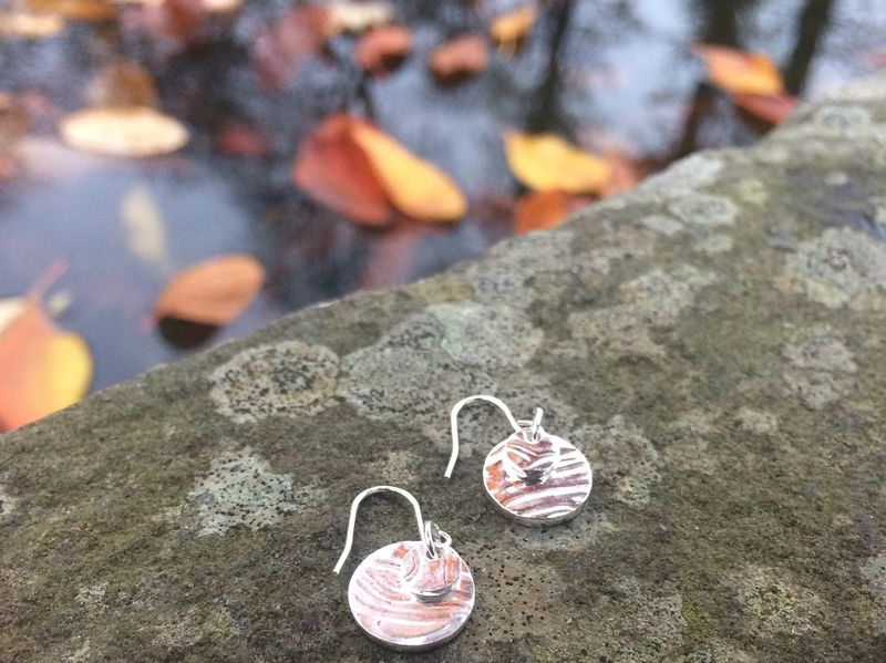 Silver ripple earrings - product images  of