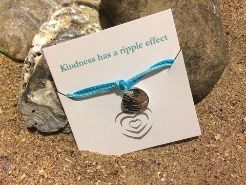 Silver,ripple,coloured,bracelets,Silver bracelet, ripple charm, charity, donation
