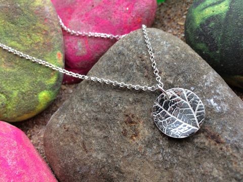 Silver,leaf,necklace,Silver leaf necklace, silver leaf jewellery, leaf jewellery, natural jewellery