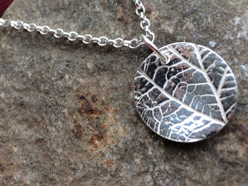 Silver leaf necklace - product images  of