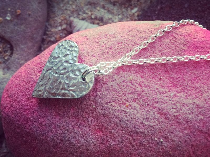 Silver heart necklace  - product images  of