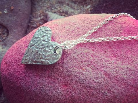Silver,heart,necklace,Silver heart pendant valentines day