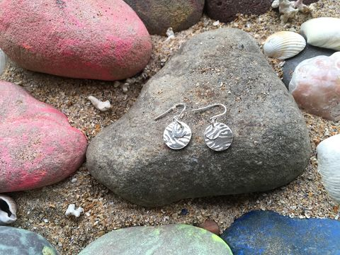 Silver,ripple,earrings,Silver earrings, ripple charm, charity, donation