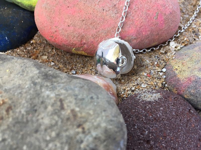 Silver hazelnut locket and necklace - product images  of