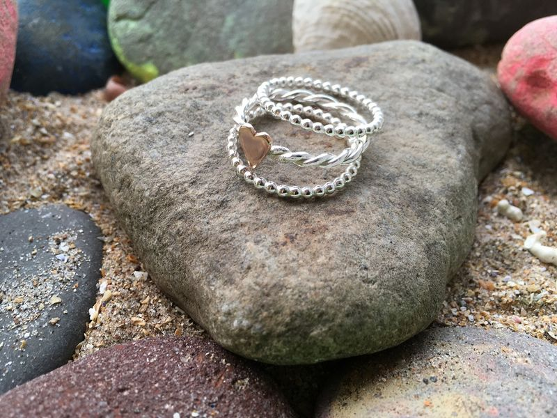 Twisted wire Heart Ring - product images  of
