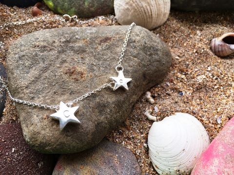 Personalised,star,initial,necklace,star necklace, personalised jewellery, initial jewellery, personalised gifts