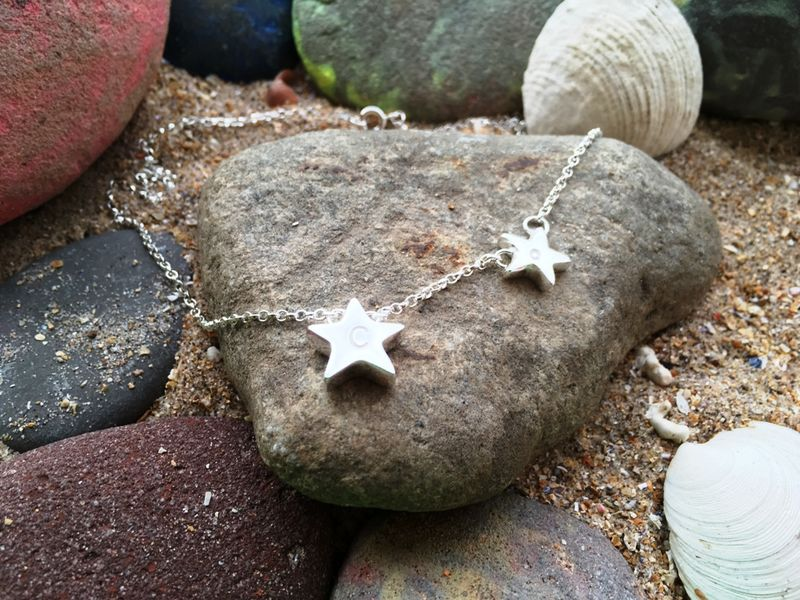 Personalised star initial necklace - product images  of