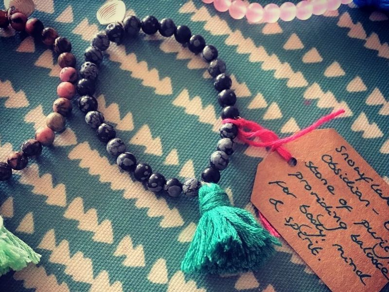 Yoga beaded bracelet and tassle - product images  of