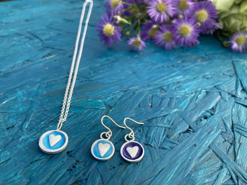 Enamel silver necklace - product images  of