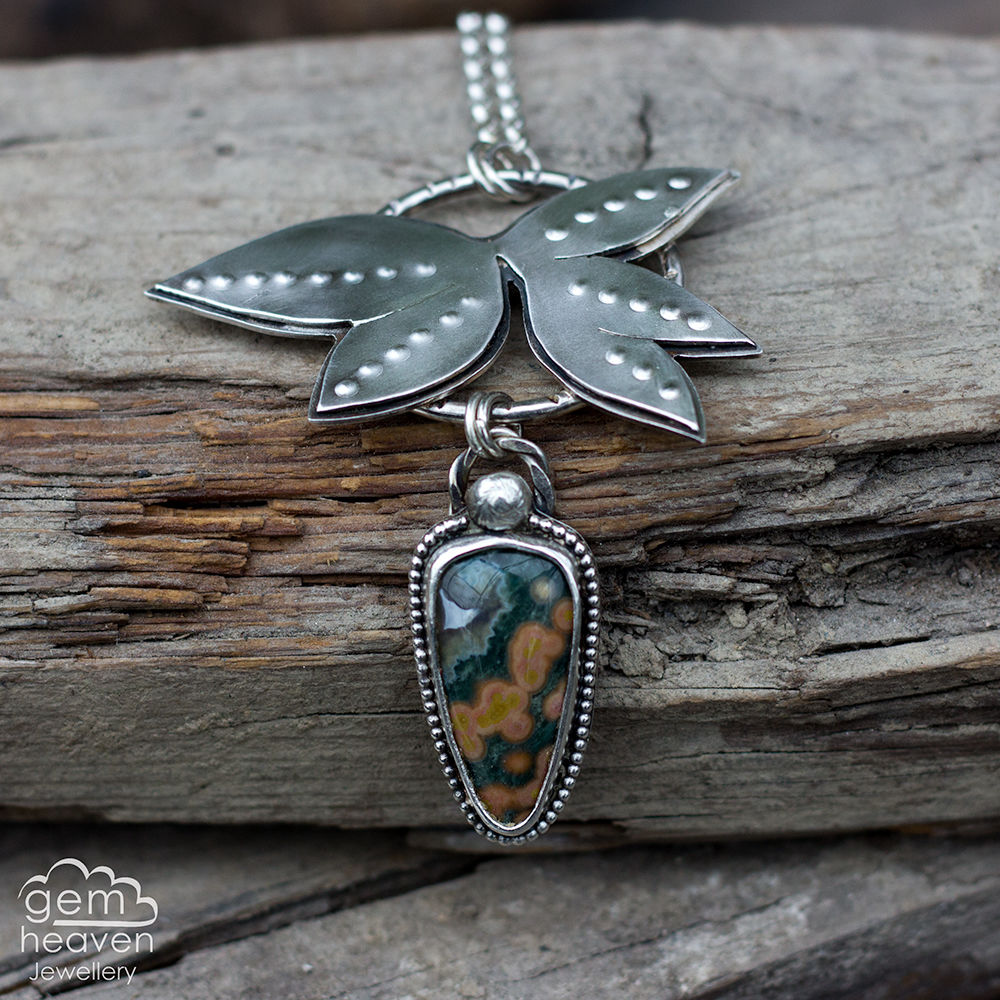 And She Escaped - ocean jasper necklace - product images  of