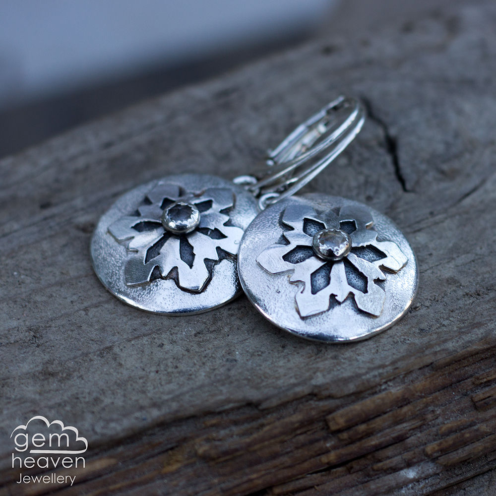Whispers of Winter with white topaz earrings - product images  of