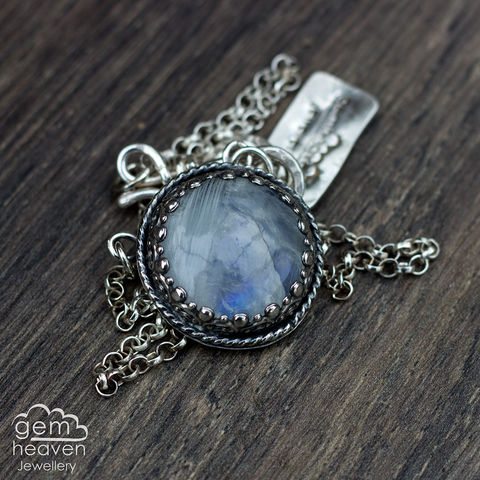 Celtic,Dreams,~,Moonstone, pendant, necklace, celtic, knot, gemstone, boho style, medieval, rustic silver, sterling silver, uk made, cornish jewellery, bohemian style, cornish jeweller, jo tubb, art, design, witch jewellery, gypsy,