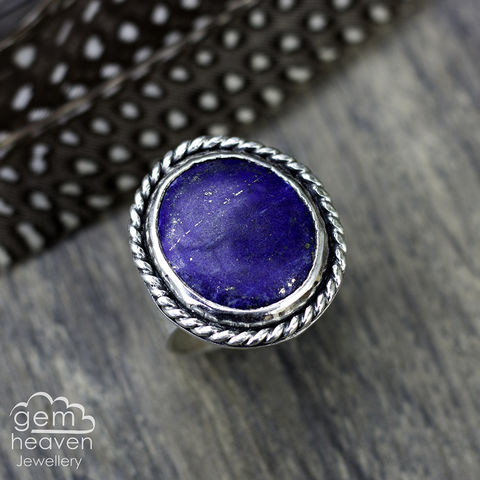 RESERVED,Midnight,Skies,Jewellery, Ring, blue ring,  stone ring, gemstone ring, rustic ring band, sterling silver ring, silver gemstone ring, uk made, bohemian style, rustic ring, purple gemstone, metalwork ring, gemheaven jewellery, wish ring