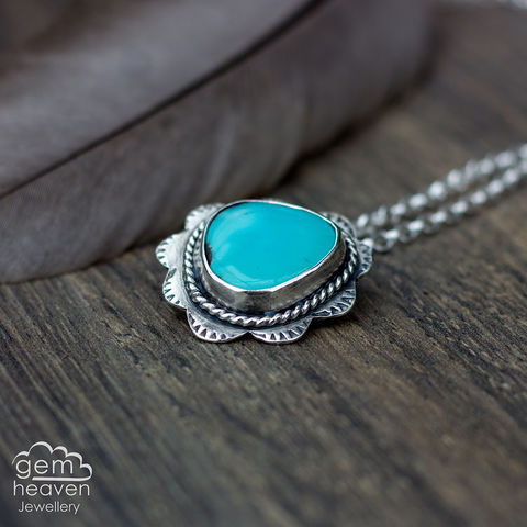 Fiji,Turquoise, pendant, necklace, gemstone, boho style, medieval, rustic silver, sterling silver, uk made, cornish jewellery, bohemian style, cornish jeweller, jo tubb, art, design, witch jewellery, gypsy,