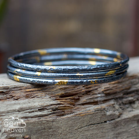 From,the,Darkness,Bangle,Jewellery, Bracelet, sterling silver, silver bangles, organic look , chunky bangle, bangle bracelets, uk made, bohemian style, rustic silver, hallmarked silver, gemheaven jewellery,