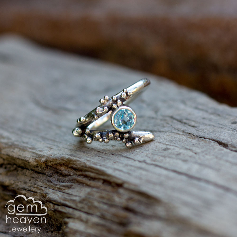 Grow - Blue Topaz rustic ring  - product images  of