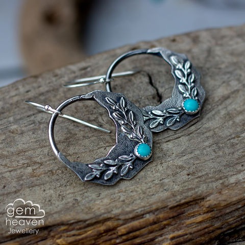 Free,Spirit,Earrings,bohemian earrings, moroccan flair, dangle earrings, sterling silver,  Turquoise, leaves, silver dangle earrings, hammered hoops, Labradorite earrings, cornish jewellery, cornish jeweller, uk made, boho style, bohemian chic
