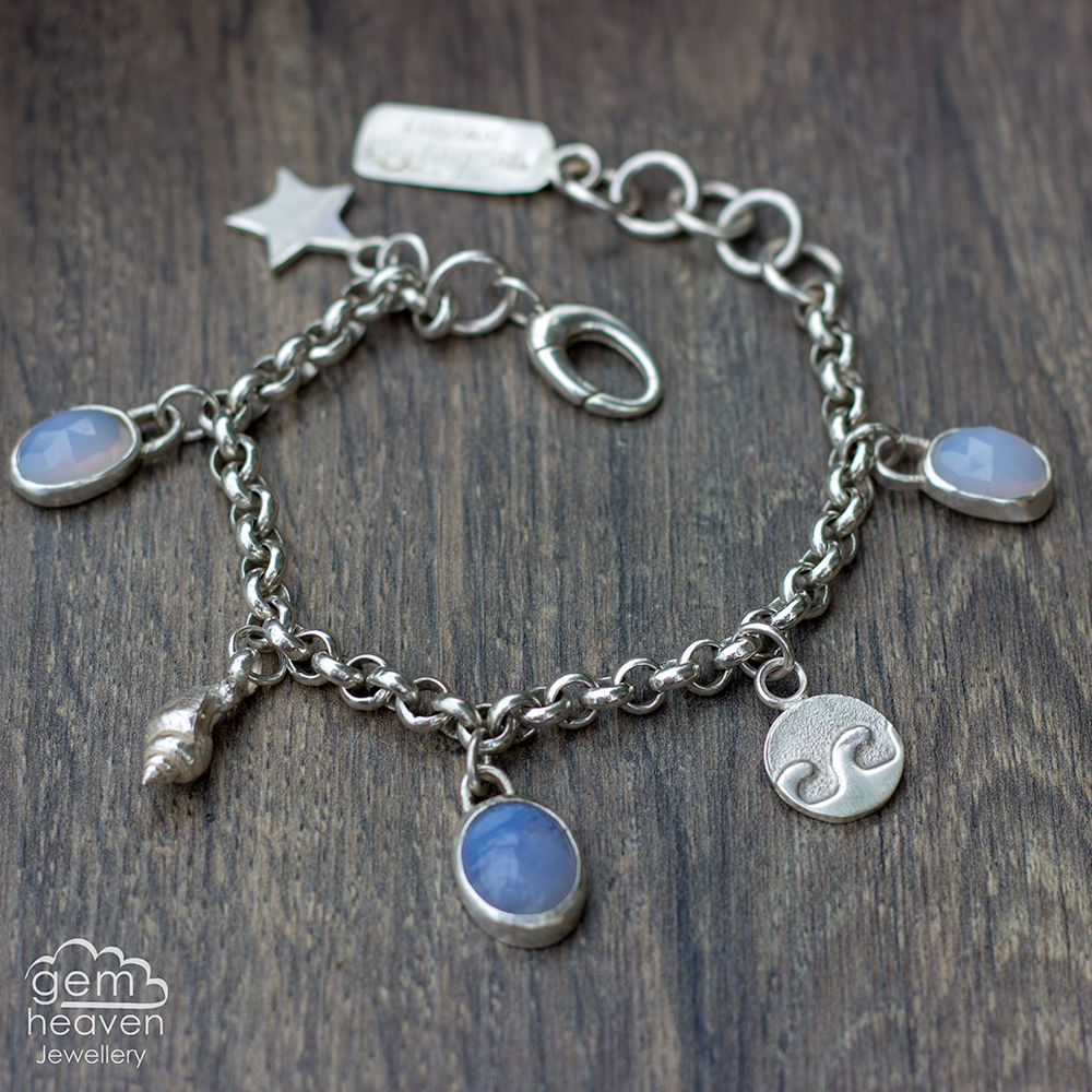 Echoes  ~ charm bracelet with Blue Chalcedony - product images  of