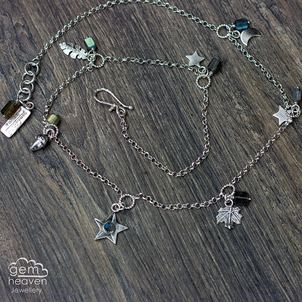 Echoes  ~ charm Necklace with Labradorite - product images  of