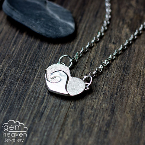 Love,of,the,Ocean,Pendant,bohemian necklace, ocean, wave, heart pendant, wave pendant, sterling silver,  cornish jewellery, cornish jeweller, uk made, boho style, bohemian chic
