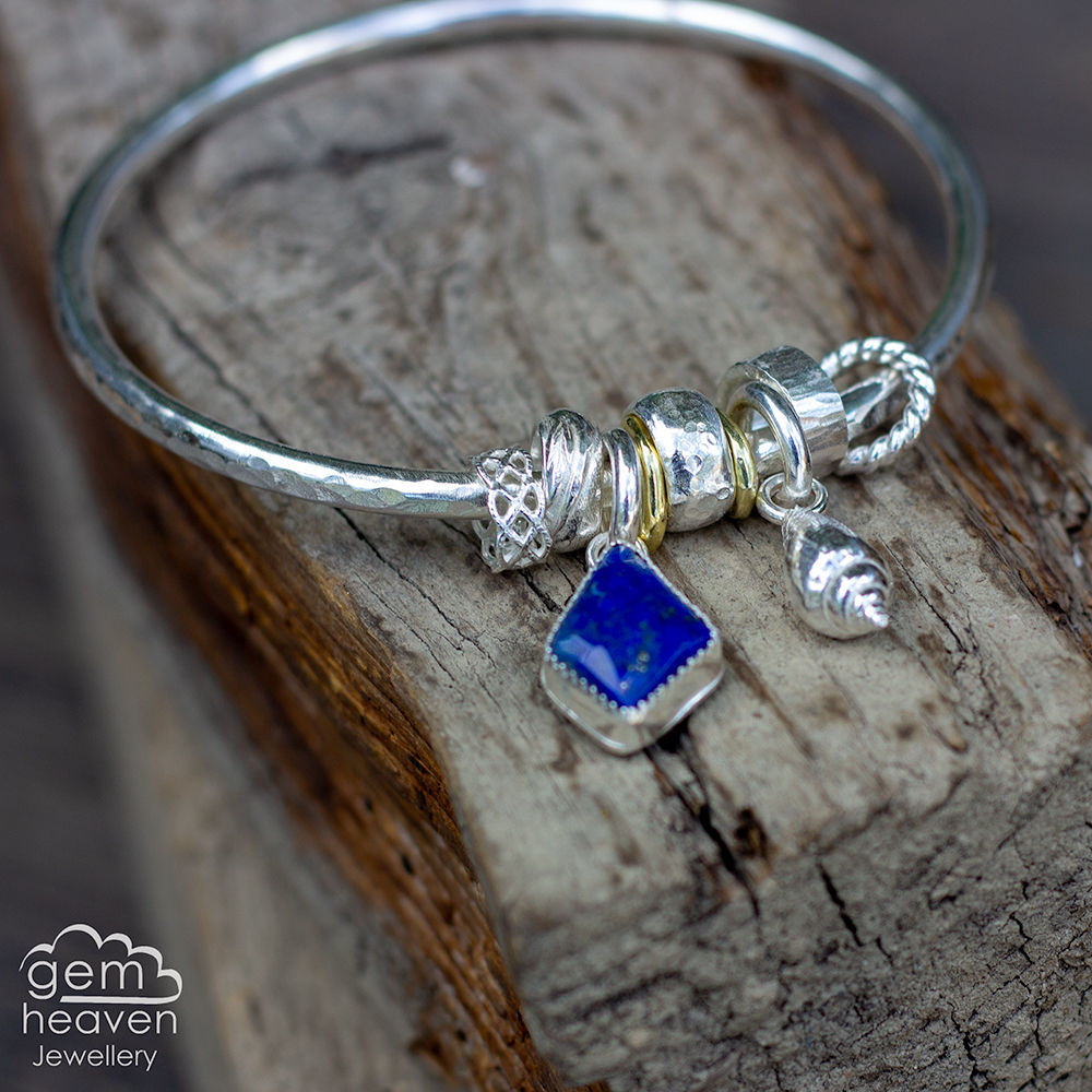 Spinner of Yarns bangle with Lapis Lazuli  - product images  of