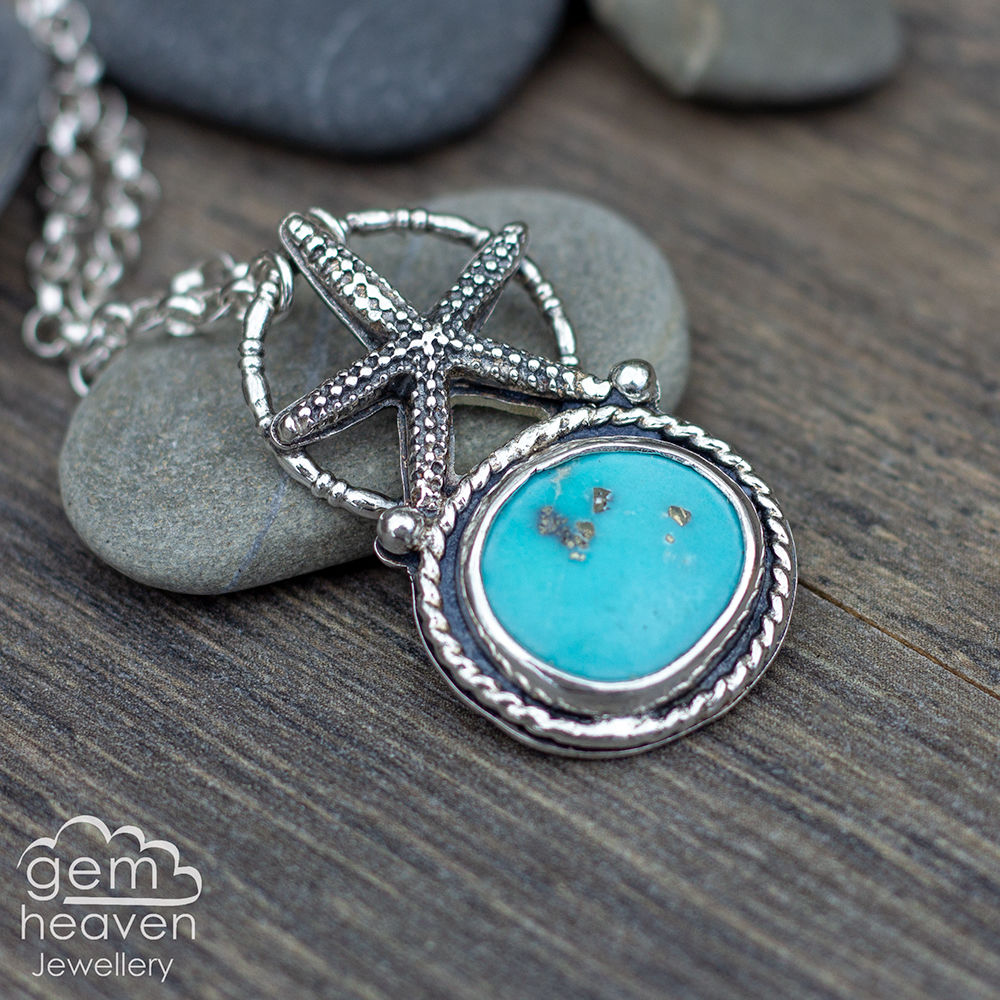 Coastal series Necklace with Whitewater turquoise - product images  of