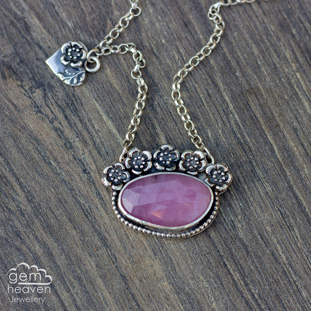 Sakura  - Pink Sapphire Remembrance Necklace  - product images  of