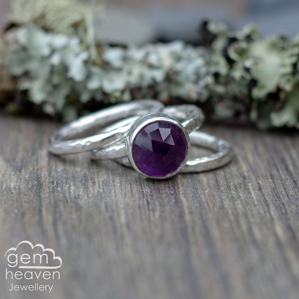 Alchemy Stacking set with Amethyst - product images  of