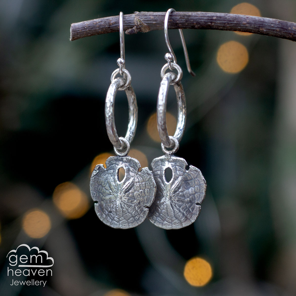 Shellseeker collection - Sand Dollar Hoops - product images  of