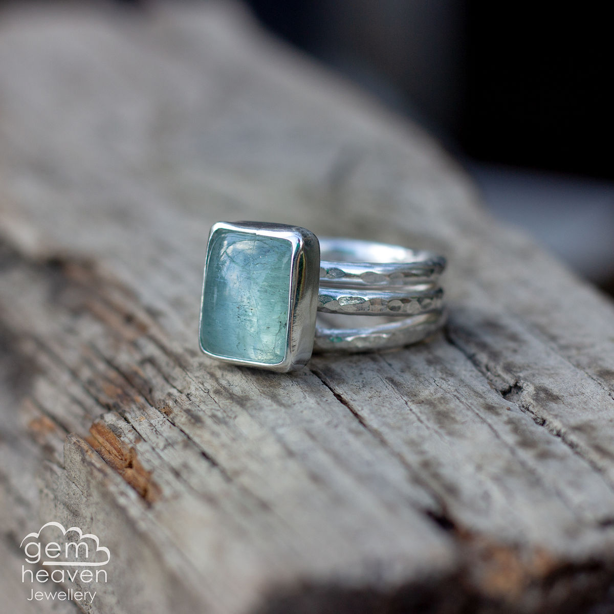 Alchemy Stacking set with Aquamarine - product images  of